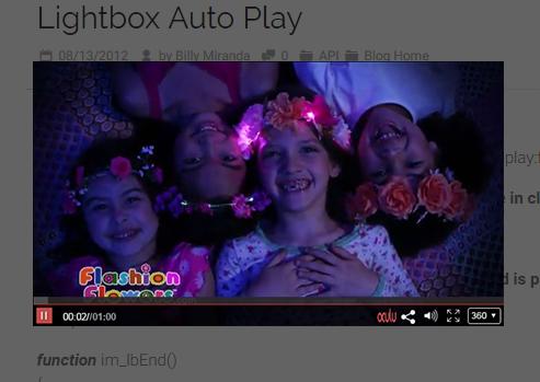 Lightbox Auto Play