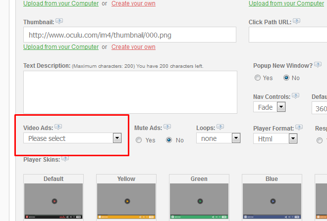 API – Ad Tag URL